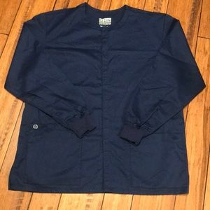 Wonder Work Navy Blue Scrub Jacket